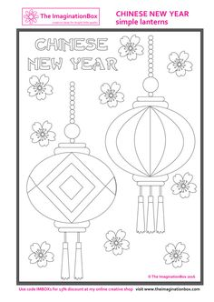 chinese new year lantern coloring page