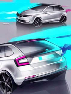 Skoda design sketch