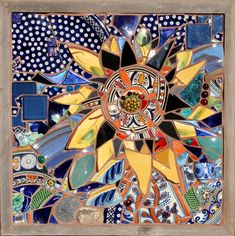 Nightflower - Therese Desjardin Studio - Mosaic Art - Ceramica Mosaics