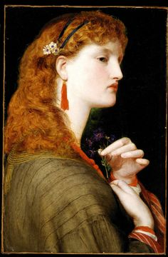 May Margaret, 1865-6, by Frederick Sandys (1829–1904). ~via Delaware Art Museum: Pre-Raphaelite Brotherhood