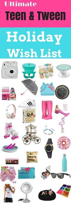 ULTIMATE GIFT GUIDE for TWEEN & TEENAGE GIRLS-Are you looking for cool & unique gifts for tweens and teenage girls for Christmas? Maybe you're looking for awesome stocking stuffers for girls? I asked my daughters, ages 16 & 9 (and their friends) & came up