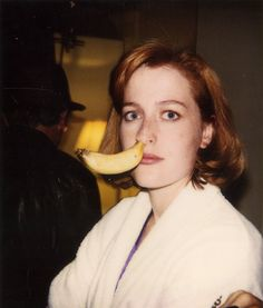 scully1964:  Gillian Anderson on the set of The X-Files. (x)