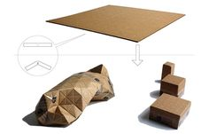 """""""Universal Packaging System"""", concept by designer Patrick Sung - Flat sheets of recyclable corrugated cardboard. The patterns make it easy to fold and conform to almost any shape while maintaining structural rigidity and protecting the contents"""