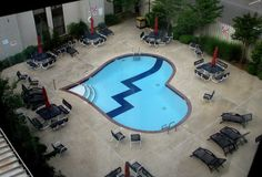 heart shaped pool at the heartbreak hotel San Juan Pools, Heartbreak Hotel, Fiberglass Pools, Pond Design, Heart Shapes, Swimming Pools, Romantic, Holiday Decor, Places