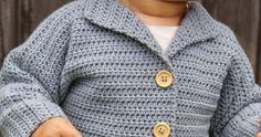 Här kommer en riktig favorit i repris. En barnkofta som är väldigt enkel att virka, helt klart ett tips för nybörjare. Precis som vi ti... Boy Crochet Patterns, Crochet Baby Sweater Pattern, Baby Sweater Patterns, Crochet Ideas, Crochet For Boys, Crochet Children, Crochet Baby Clothes, Baby Sweaters, Kids Outfits