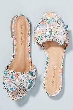 Raphaella Booz Bow-Front Slide Sandals