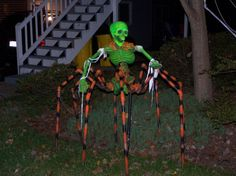 half skelly  half spider?!  wow!