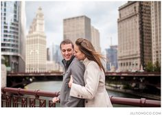 love the city behind them | Chicago Engagement Photos | Jill Tiongco Photography
