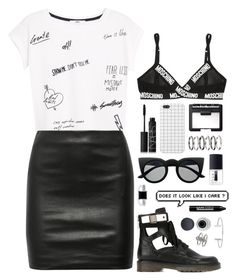 """""""Might be a sinner, might be a saint"""" by runawaydream ❤ liked on Polyvore featuring moda, Moschino, Topshop, NARS Cosmetics, MANGO, The Row, See by Chloé, BERRICLE, M.N.G y Retrò"""
