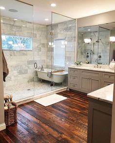 Stunning Master Bathroom Remodel Ideas – Home Design Bad Inspiration, Bathroom Inspiration, Furniture Inspiration, Bathroom Renos, Bathroom Interior, Open Bathroom, Wet Room Bathroom, Vanity Bathroom, Bathroom Cabinets