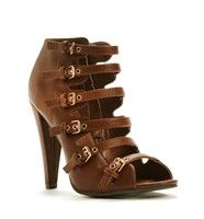 cognac multi buckle heels ONLY $28.90 at #windsorstore