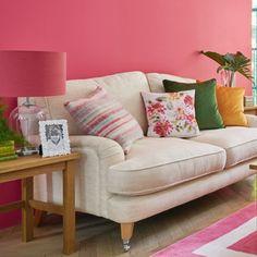 Saltdean Stripe Pink Grapefruit Cushion