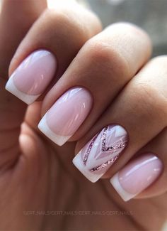 Pretty Nail Designs, Pretty Nail Art, Nail Color Designs, Nails Design, Best Nail Designs, Elegant Nail Designs, Pink Nail Art, Pink Nails, Natural Nail Art