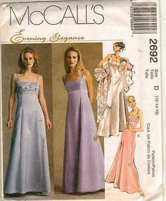 McCalls 2692 - fitted empire waist dresses.