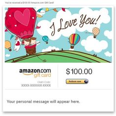 Amazon Gift Card - Email - I Love You  Read more http://cosmeticcastle.net/gift-cards/amazon-gift-card-email-i-love-you  Visit http://cosmeticcastle.net to read cosmetic reviews