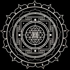 The powerfull #sriyantra #symbol #mandala #mantra  Sri yantra also known as Sri Chakra is called the mother of all yantras because all other yantras derive from it. In its three dimensional forms Sri Yantra is said to represent Mount Meru the cosmic mountain at the center of the universe.  The Sri Yantra is conceived as a place of spiritual pilgrimage. It is a representation of the cosmos at the macrocosmic level and of the human body at the microcosmic level (each of the circuits correspond…