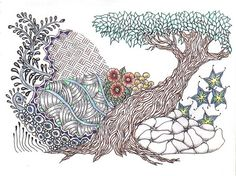 Zen tree ~ zentangle-based drawing I did last year  #journal