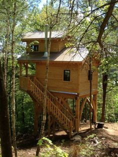I am in love with the idea of a tiny raised high in the trees.  But since my tiny is for retirement...I may get tired of carrying the groceries and what not up the steps every day.