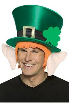 St Patrick/'s Day Top Hat With Drinking Leprechaun Saturday 17th March