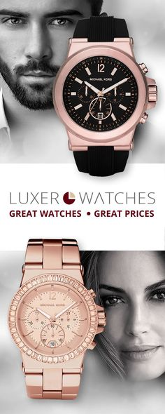 Looking for the trendiest Michael Kors watches for men or women? Rose-Gold is  in! Come shop our selection at www.luxerwatches.com your online destination for Mk watches at the best prices guaranteed!#MKWatches #Trending #AffordableFashionStyles