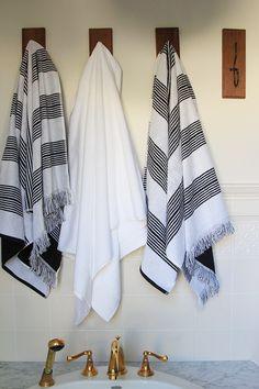 Nate Berkus Fringe Stripe Bath Towel   Target
