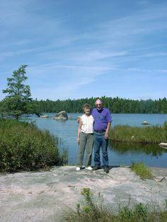 Davie and Gene Felty enjoying a day trip to Highwind Lake.