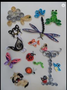 Quilling Kit - In The Garden for sale online Neli Quilling, Quilling Butterfly, Paper Quilling Cards, Quilled Paper Art, Quilling Paper Craft, Paper Crafts, Quilling Ideas, Quilling Instructions, Paper Quilling Tutorial