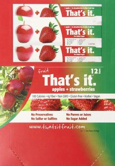 Amazon.com: That's It Fruit Bar, Apple and Strawberry, 1.2 Ounce ( 12 count ):