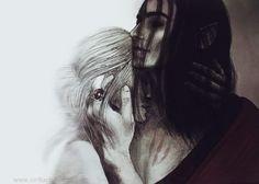 Ciri & Eredin. I don't like this idea, but it resembles me of Sonea and Akkarin...