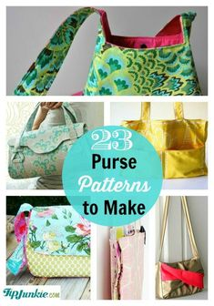 You'll love these beautiful purse tutorials, free handbag patterns, clutch purse patterns, how to sew a purse tutorials, and even tutorials on how to make a tote.  Perfect for homemade gifts for yourself, friends, Christmas, and teacher appreciation week.