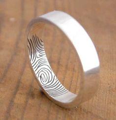 Finger print wedding band