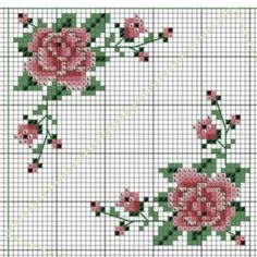 Cross Stitch Geometric, Tiny Cross Stitch, Cross Stitch Borders, Cross Stitch Flowers, Cross Stitching, Cross Stitch Patterns, Beaded Embroidery, Cross Stitch Embroidery, Embroidery Patterns