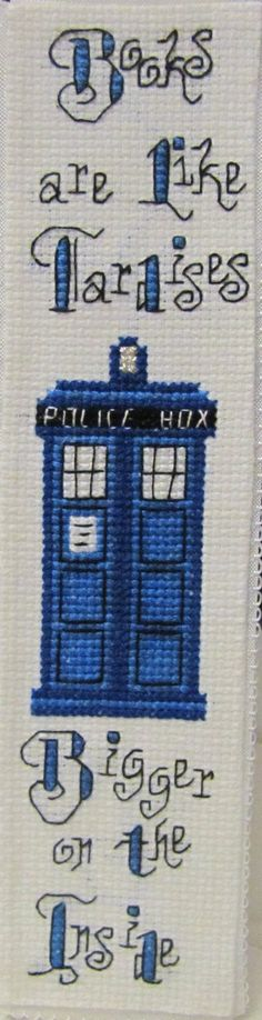 Tardis Bookmark by RanebowStitches.deviantart.com on @deviantART