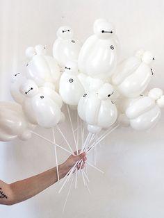 Mini baymax balloons #baymax #baymaxballoons #bighero6 #bighero6party #party #birthday
