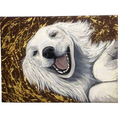 Camille, Happy Labrador Retriever Dog Oil Painting on Canvas Signed by Artist