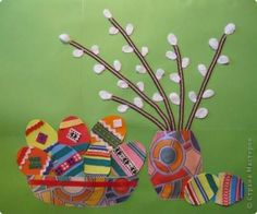 Easter card for children to make