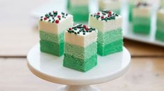 Green Ombre Christmas Fudge Candy Recipes
