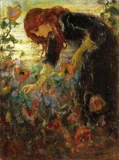 Laura Muntz Lyall (1860-1930) - Oriental Poppies