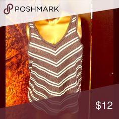 Navy & white striped airy tank by Hollister Lightweight summery tank size S Hollister Tops Tank Tops