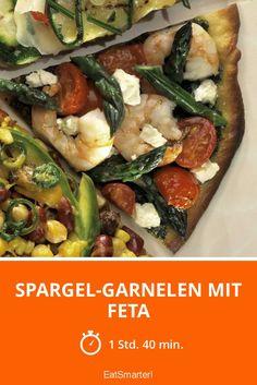 Spargel-Garnelen mit Feta