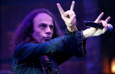 Ronnie James Dio and the 'Maloik', aka: metal horns.