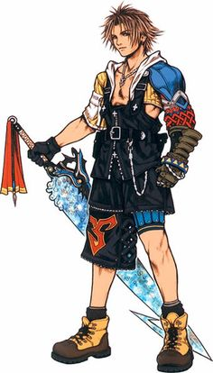 Tidus Voiced by: Masakazu Morita (Japanese), James Arnold Taylor (English)