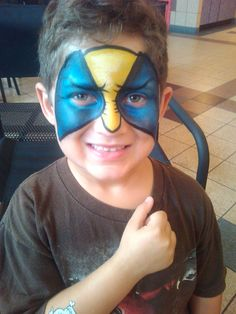 Boy face painting Orlando and Kissimmee