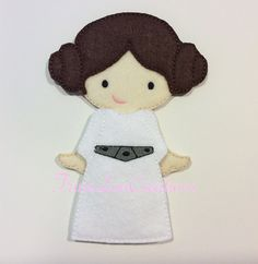 non paper doll Princess Leia Star Wars by TrinaLouCreations, $12.99