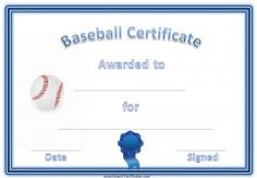 a variety of free printable baseball certificates many more free sports awards and award certificates on this site - Baseball Certificates Templates Free