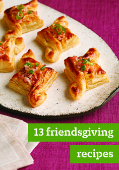 "13 Friendsgiving Recipes – Combine ""friends"" and ""Thanksgiving"" and you get Friendsgiving! It generally refers to a Thanksgiving dinner with friends, but we think the idea is appealing any time of year!"