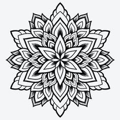 Geometric Mandala Tattoo, Mandala Flower Tattoos, Sacred Geometry Tattoo, Mandala Artwork, Mandala Tattoo Design, Flower Mandala, Bild Tattoos, Leg Tattoos, Arm Band Tattoo