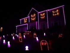 halloween light show 2013 ghost n stuff by deadmau5 youtube - Halloween Lights Thriller