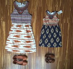 Matching Lucky dresses