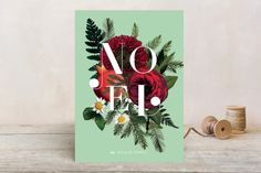 Floral Noel Holiday Cards